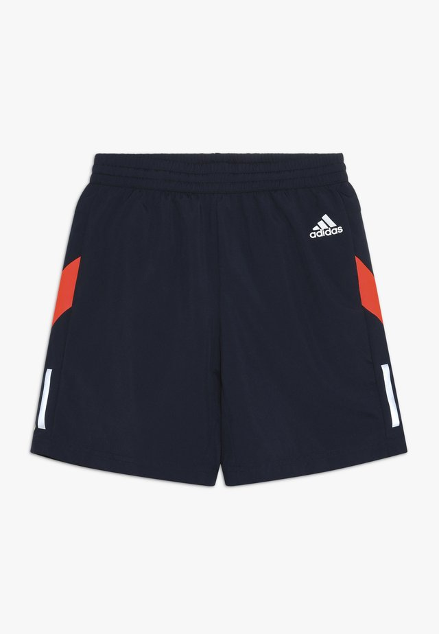 RUN - Pantalón corto de deporte - collegiate navy/red/silver