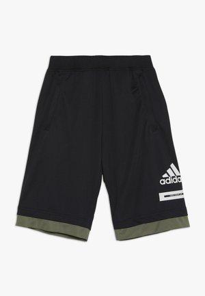 BOLD - Sports shorts - black/legend green/white