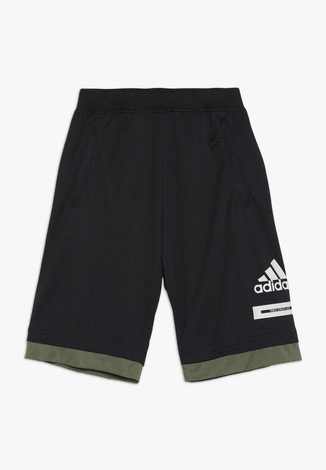 BOLD - Pantalón corto de deporte - black/legend green/white