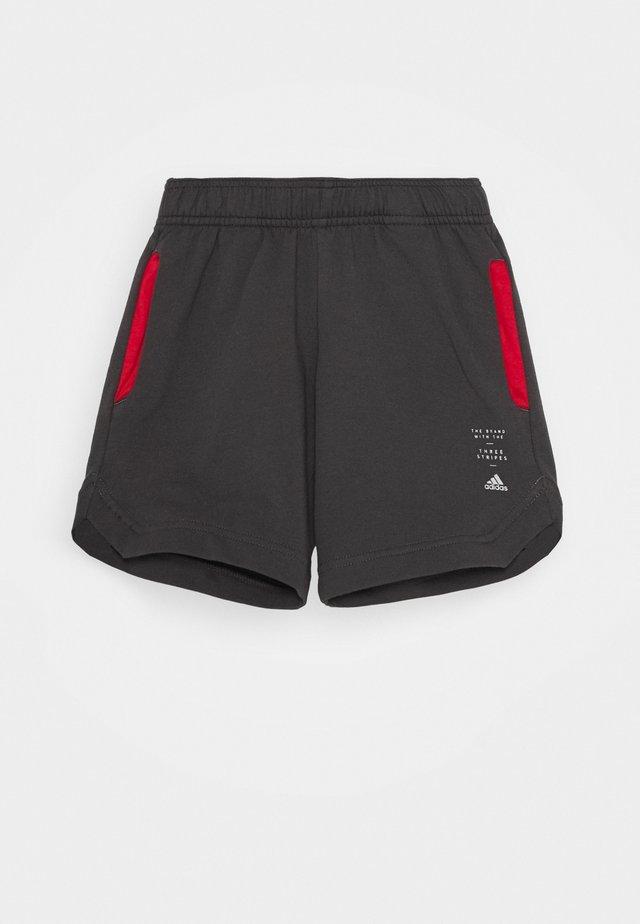 SPACER - Pantalón corto de deporte - dark grey/red