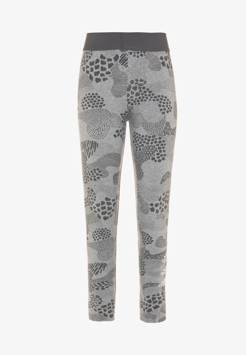 adidas Performance - TIGHT - Legging - mid grey heather/grey four/white