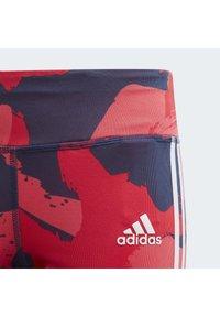 adidas Performance - EQUIPMENT 3/4 LEGGINGS - 3/4 sports trousers - grey/pink/blue - 4