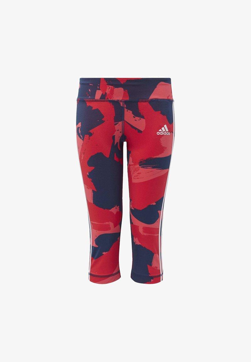 adidas Performance - EQUIPMENT 3/4 LEGGINGS - 3/4 sports trousers - grey/pink/blue