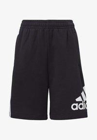 adidas Performance - MUST HAVES BADGE OF SPORT SHORTS - Pantaloncini sportivi - black - 0