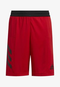 adidas Performance - SPORT 3-STRIPES SHORTS - Sports shorts - red - 0