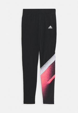 Legginsy - black/white/signal pink