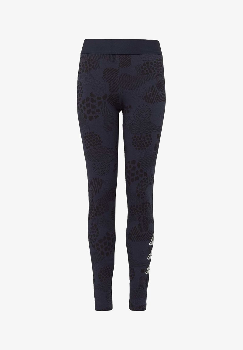 adidas Performance - MUST HAVES GRAPHIC LEGGINGS - Collant - blue