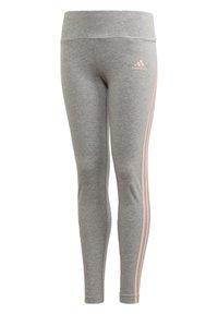 adidas Performance - STRIPES COTTON LEGGINGS - Collants - grey - 0