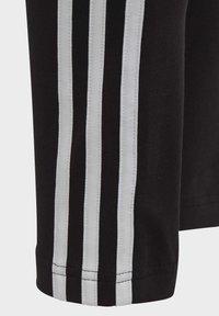 adidas Performance - 3-STRIPES COTTON LEGGINGS - Collant - black - 4