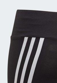 adidas Performance - 3-STRIPES COTTON LEGGINGS - Collant - black - 3