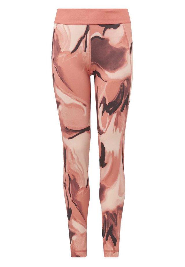 ALPHASKIN AEROREADY PRINTED LEGGINGS - Tights - pink