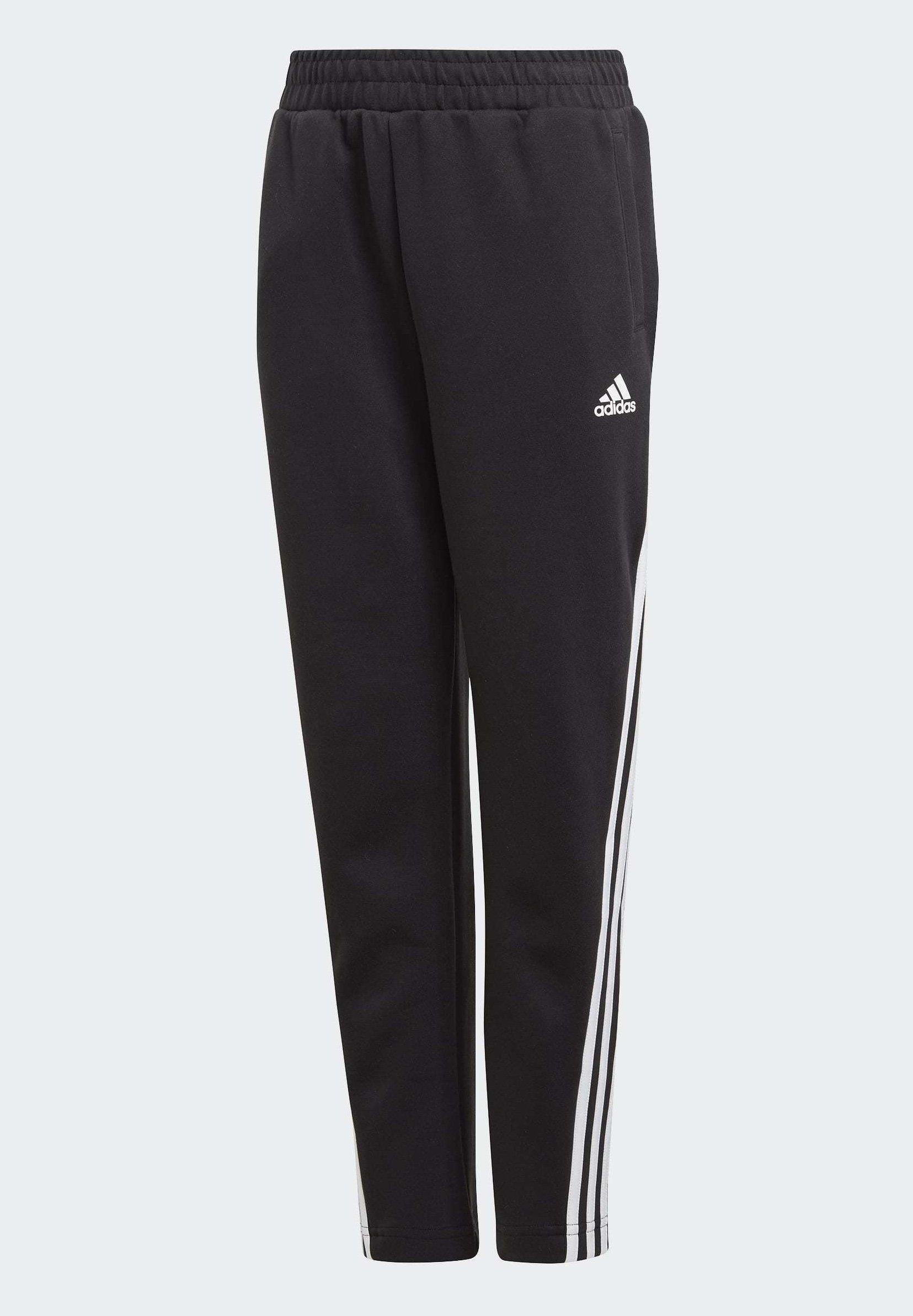Adidas Badge Of Sport 3 Stripe Hooded Tracksuit Black in