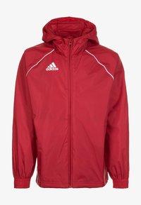 adidas Performance - CORE 18 RAIN JACKET - Träningsjacka - red/white - 0