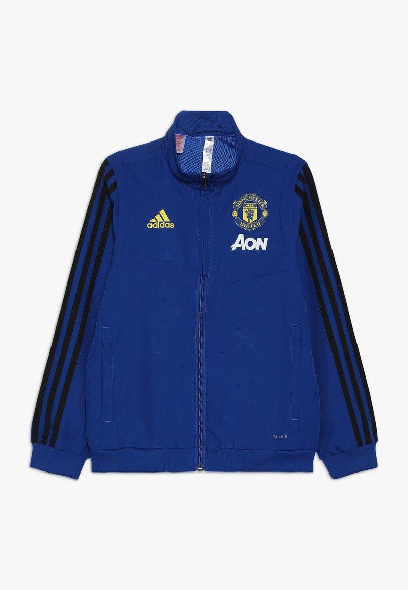 adidas Performance - MANCHESTER UNITED FC - Chaqueta de entrenamiento - blue