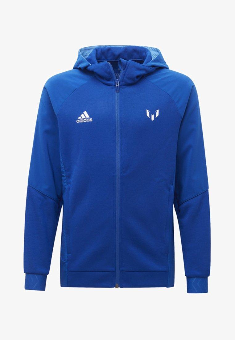adidas Performance - MESSI FULL-ZIP HOODIE - Hoodie met rits - blue