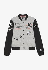 adidas Performance - Sportovní bunda - medium grey heather/black - 3