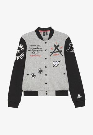 Training jacket - medium grey heather/black
