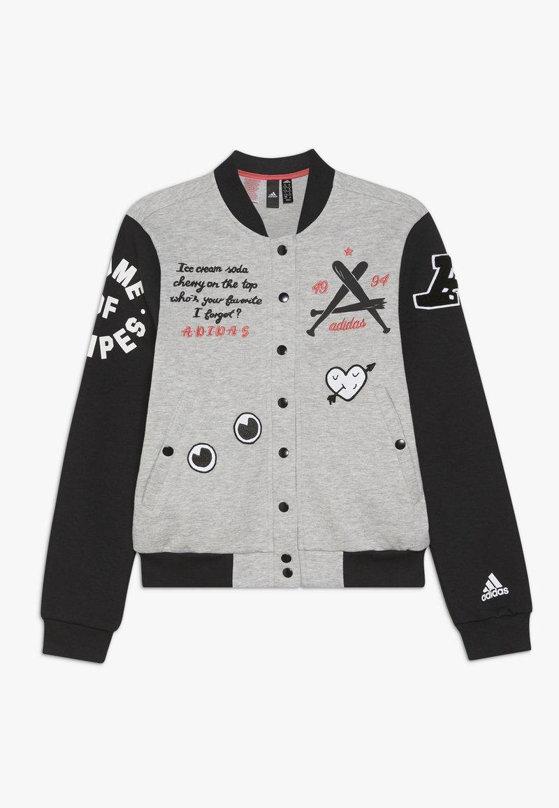 adidas Performance - Sportovní bunda - medium grey heather/black