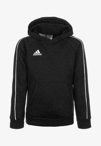 adidas Performance - CORE - Hoodie - black/white - 0