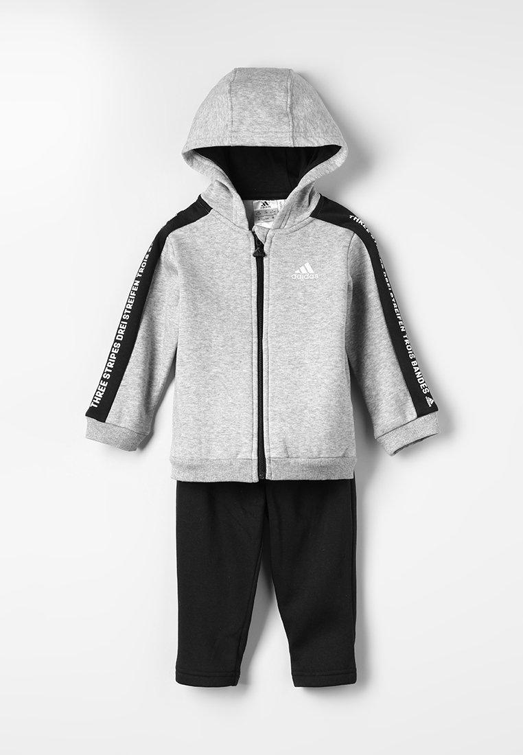 adidas Performance - Trainingspak - medium grey heather/black/white