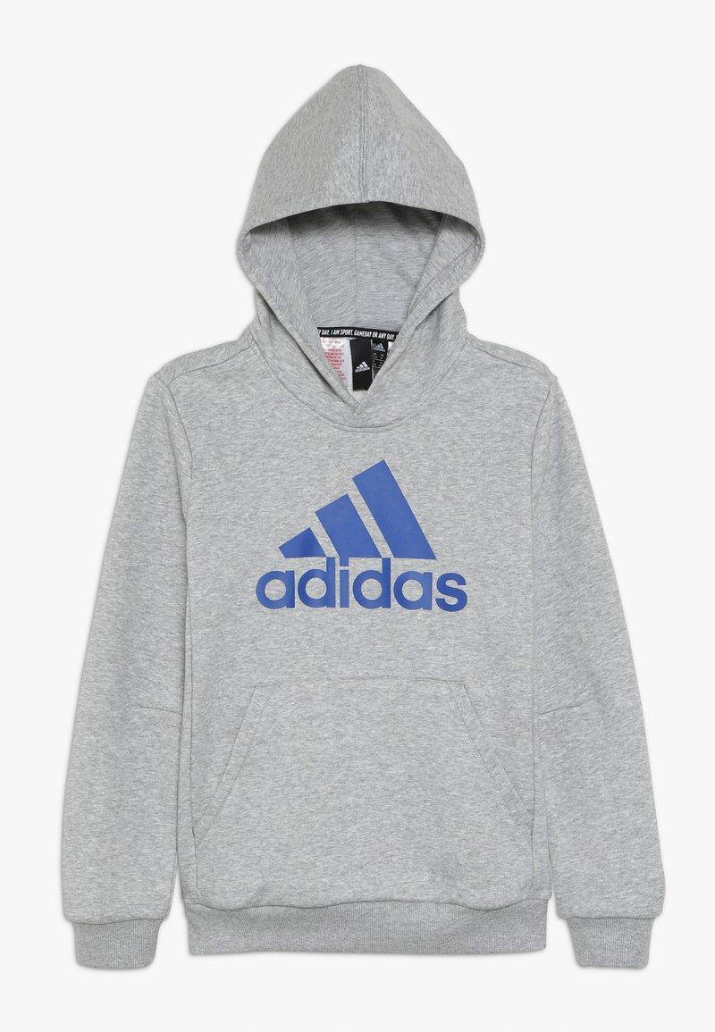 adidas Performance - BOS - Jersey con capucha - medium grey heather/collegiate royal
