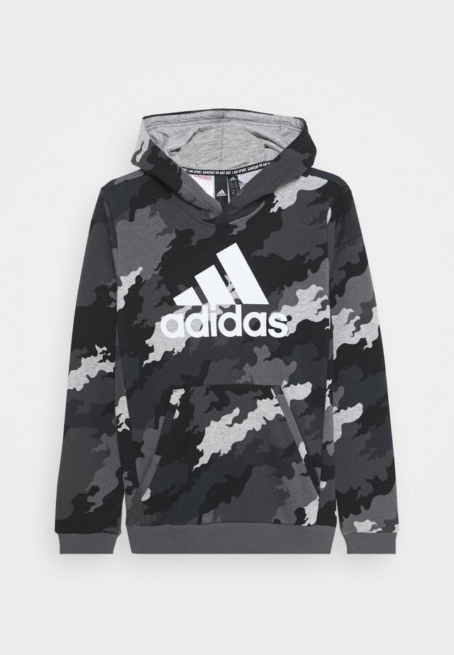 ESSENTIALS SPORTS INSPIRED HOODED - Luvtröja - grey/white