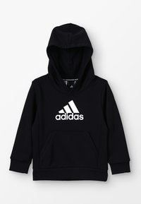 adidas Performance - ESSENTIALS SPORTS INSPIRED HOODED - Hoodie - black/white - 0