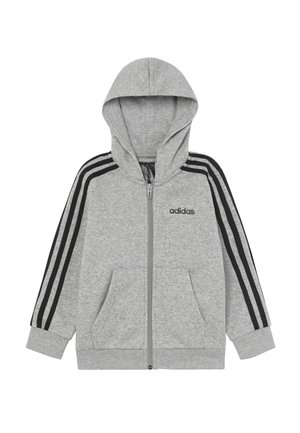 veste en sweat zippée - grey/black