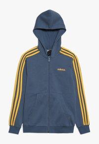 adidas Performance - Hoodie met rits - blue-grey/yellow - 0