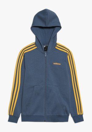 veste en sweat zippée - blue-grey/yellow