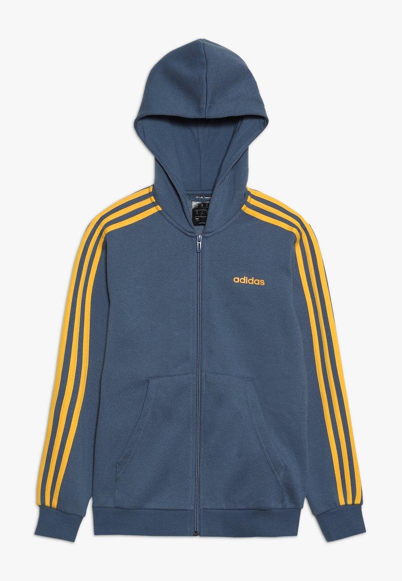 adidas Performance - Hoodie met rits - blue-grey/yellow