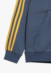 adidas Performance - Hoodie met rits - blue-grey/yellow - 2