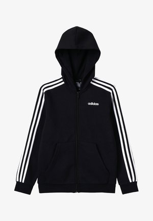 veste en sweat zippée - black/white