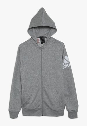 Sweatjacke - medium grey heather/white
