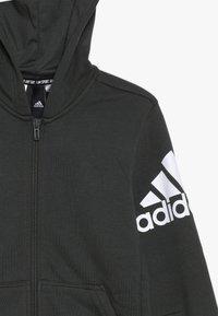 adidas Performance - veste en sweat zippée - dark green/white - 4