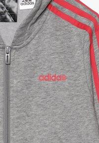 adidas Performance - Hettejakke - medium grey heather/pink - 4
