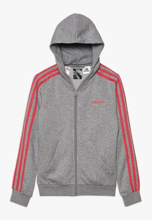 Hettejakke - medium grey heather/pink