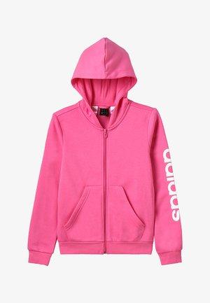 ESSENTIALS LINEAR HOODIE - Bluza rozpinana - semi solar pink/white