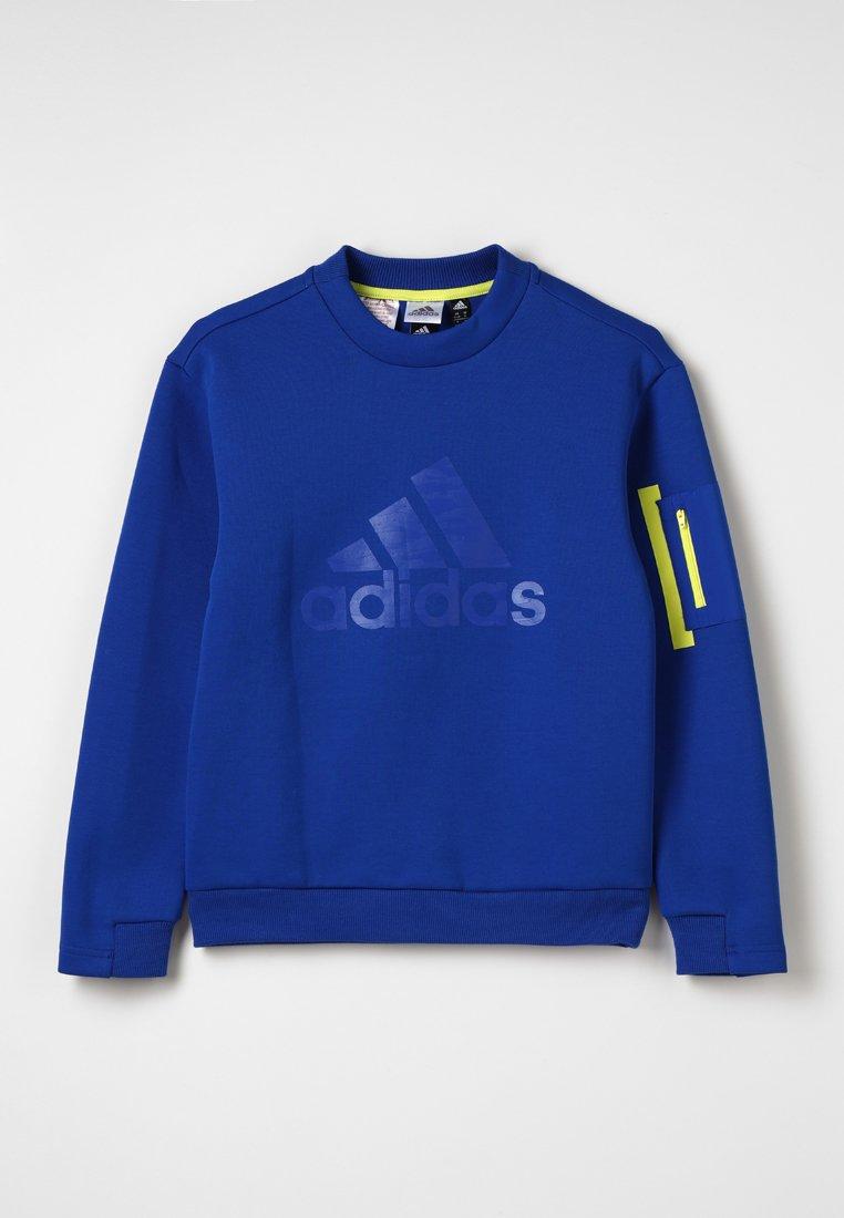 adidas Performance - ID CREW - Sweatshirt - royal/shock yellow