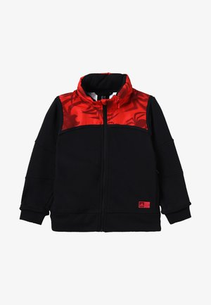 Felpa aperta - black/red/black