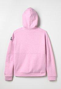 adidas Performance - ID Stadium Hooded Track Jacket - Sweatjakke /Træningstrøjer - true pink/grey six/black - 1