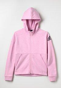 adidas Performance - ID Stadium Hooded Track Jacket - Hettejakke - true pink/grey six/black - 0