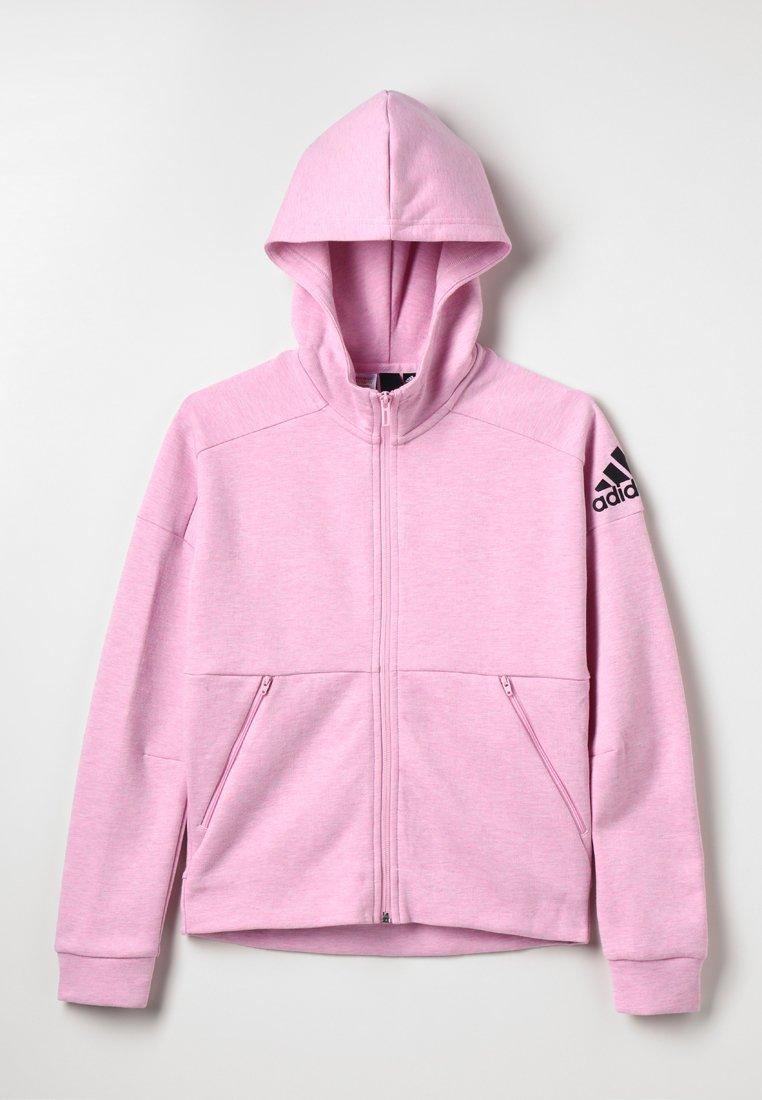 adidas Performance - ID Stadium Hooded Track Jacket - Sweatjakke /Træningstrøjer - true pink/grey six/black