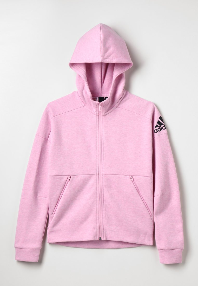 adidas Performance - ID Stadium Hooded Track Jacket - veste en sweat zippée - true pink/grey six/black
