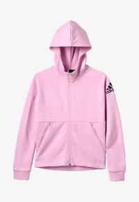 adidas Performance - ID Stadium Hooded Track Jacket - Hettejakke - true pink/grey six/black - 4