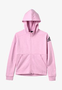 adidas Performance - ID Stadium Hooded Track Jacket - Sweatjakke /Træningstrøjer - true pink/grey six/black - 4