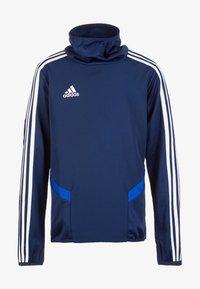adidas Performance - Tiro 19 Warm Top - Sweatshirt - dark blue / bold blue / white - 0