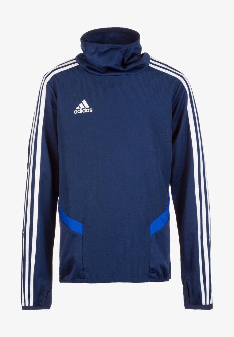 adidas Performance - Tiro 19 Warm Top - Sweatshirt - dark blue / bold blue / white