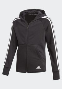 adidas Performance - MUST HAVES 3-STRIPES HOODIE - Bluza rozpinana - black - 2