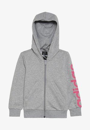 LIN - Zip-up hoodie - mottled grey/pink